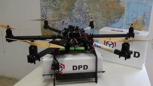 DPD drón teszt